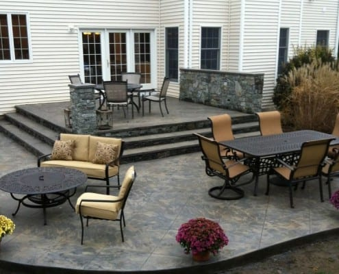 stamped concrete terrace
